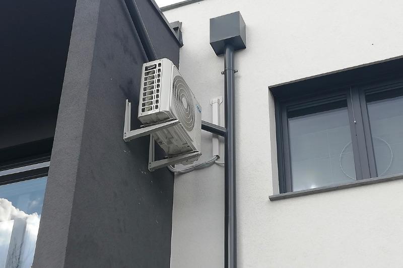 kültéri klíma modern házon